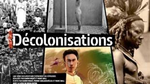 Visuel de la série documentaire «Décolonisations» diffusée le mardi 7 janvier 2020 sur ARTE et disponible depuis le 31 décembre 2019 sur Arte.tv