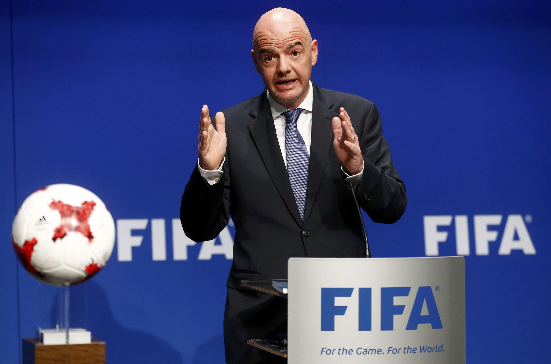 Rais wa shirikisho la mpira wa miguu duniani, Fifa, Gianni Infantino.