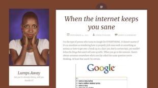 Capture d'écran du blog de Linda Tusiime.