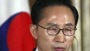 图为遭公诉的韩国第17届总统李明博 资料照片