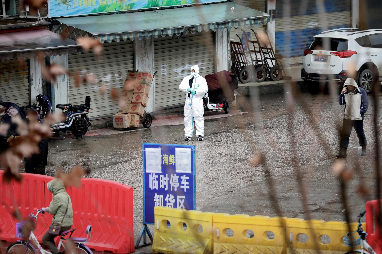 Chợ hải sản ở Vũ Hán, tỉnh Hồ Bắc, Trung Quốc ngày 10/01/2020.