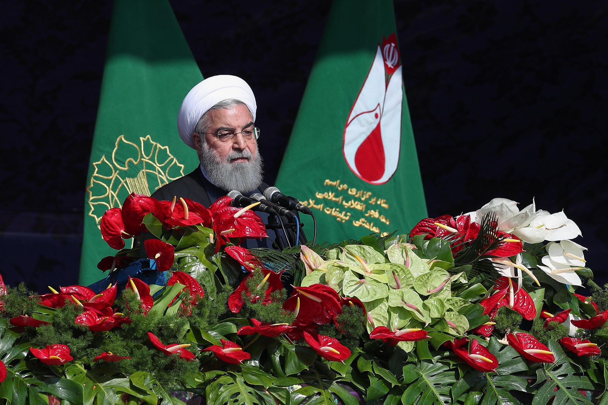 حسن روحانی در مراسم روز 22 بهمن