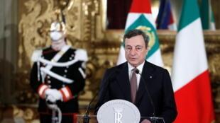 意大利总理德拉吉资料图片