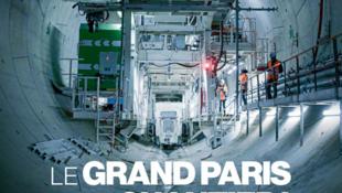 Reportagem da revista Aujourd'hui en France mostra o andamento das obras no túnel do Grand Paris Express.