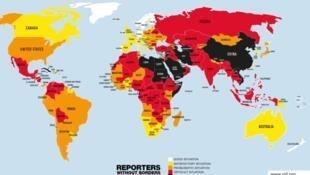 De acordo com a RSF, Angola subiu 12 lugares no seu ranking anual sobre a liberdade de imprensa e situa-se actualmente no 109° lugar.