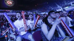 Khán giả trong cuộc thi đấu e-Sports ICBC (châu Á) tại Hồng Kông, ngày 06/08/2017