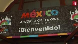 Entrée du Pavillon du Mexique, à Moscou.