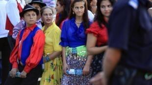 Les Roms ont défilé dans quinze grandes villes européennes le 1er octobre 2011, comme ici à Bucarest.