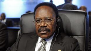 L'ancien président gabonais Omar Bongo, lors du sommet Union européenne-Afrique qui s'est tenu à Lisbonne, le 8 décembre 2007.