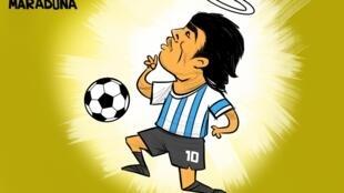 دیگو مارادونا فوتبالیست معروف آرژانتینی