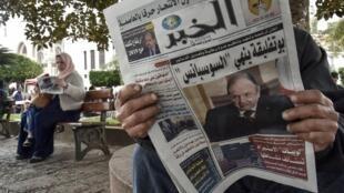 (illustration) La candidature d'Abdelaziz Bouteflika à la «une» des journaux, le 11 février 2019.