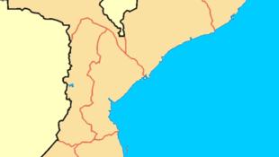 Mapa de Moçambique, com o distrito de Cabo Delgado em evidência