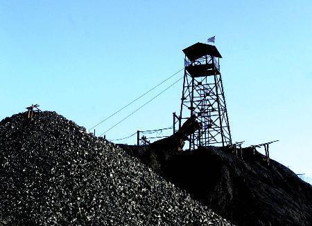 中国开采煤炭报道图片