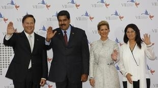 Tổng thống Venezuela, Nicolas Maduro (thứ hai bên trái) tại thượng đỉnh Châu Mỹ, Panama ngày 10/04/2015.