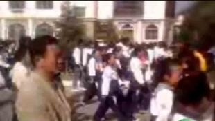 2010年十月十九日和二十日,青藏地區爆發藏族學生反對純漢語教學制度。