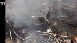 Imagens da TV mostram as ruas do Egito após o massacre desta quarta-feira, 14 de agosto de 2013.