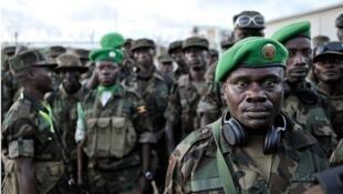 Baadhi ya wanajeshi wa kikosi cha Uganda wanaounda jeshi la AMISOM nchini Somalia