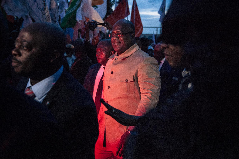 Rais wa DRC Félix Tshisekedi,alipowasili mjini Goma,Aprili 14  2019.