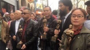 22017年2月28日 709被捕律師家屬獲得了第四屆奧斯卡中國人權獎,江天勇妻子金變玲代表709家屬前往洛杉磯領獎。