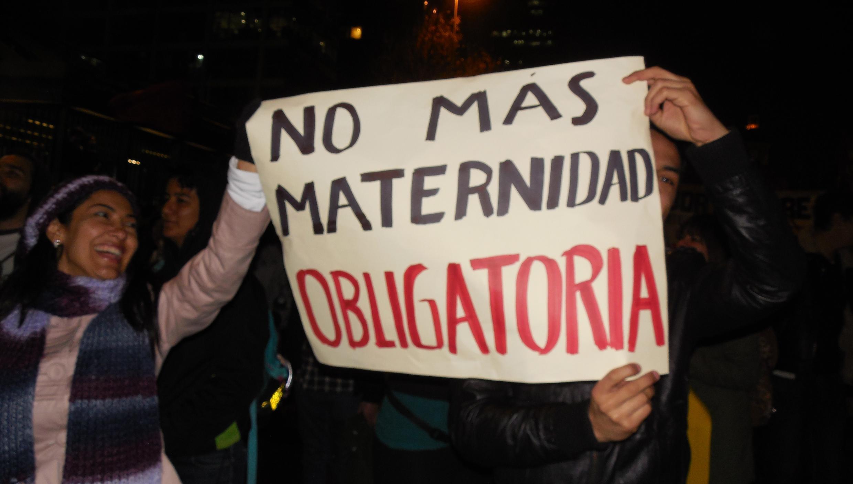 Manifestation à Santiago du Chili, pour la légalisation de l'avortement, le 25 juillet 2013.