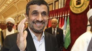 Mahmoud Ahmadinejad, no dia 14 de agosto em Meca, na Arábia Saudita.