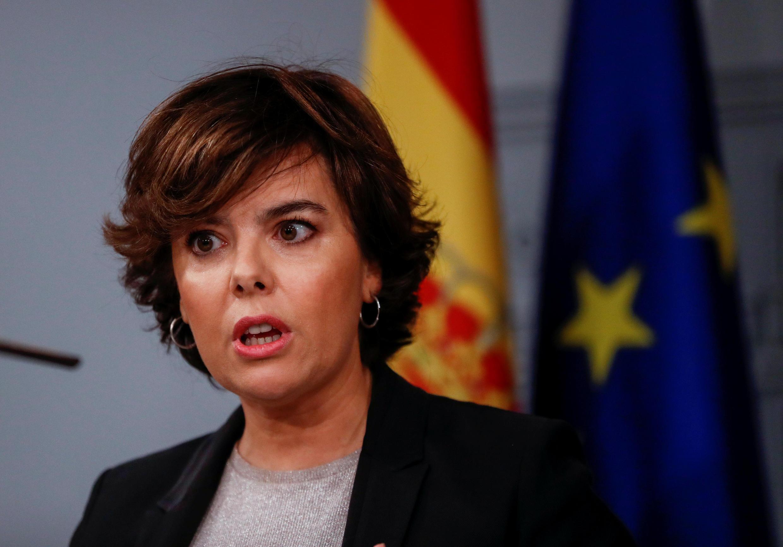 Soraya Saenz de Santamaria le 16 octobre 2017.