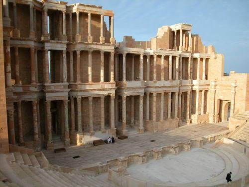 資料圖片:利比亞薩布拉塔古城遺址。圖片攝於2003年。