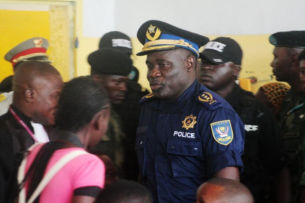 Le général John Numbi alors qu'il était chef de la police de Kinshasa en juin 2011.