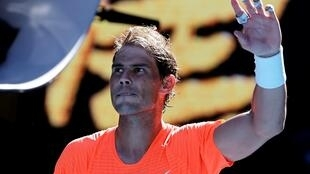 Spain's Rafael Nadal celebrates his win against Serbia's Laslo Djere but said after his back was not feeling great