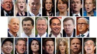 Premiers débats des démocrates pour les primaires à la présidentielle de 2020 à Miami.