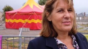 Catherine Boskowitz (L'Europe), metteure en scène du spectacle « Le Pire n'est pas (toujours) certain », création au festival des Francophonies, Limoges.