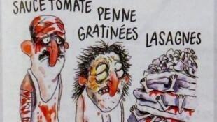 Detalle del dibujo que provocó la polémica en Italia.