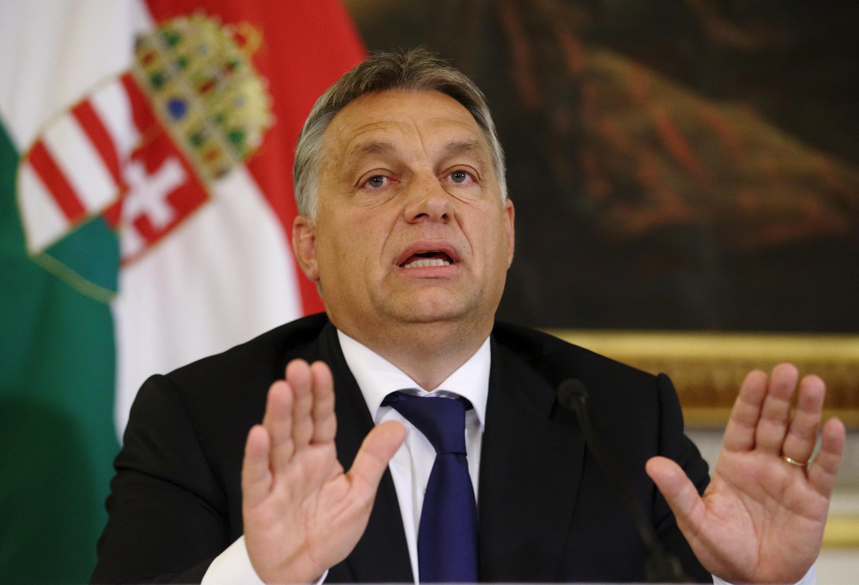 Thủ tướng Hungary Viktor Orban trong cuộc họp báo tại Vienna, Áo, ngày 25/09/2015