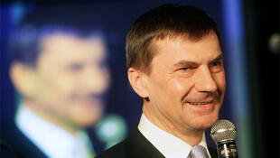 Estonia's acting Prime Minister and Andrus Ansip in the Estonian capital Tallinn