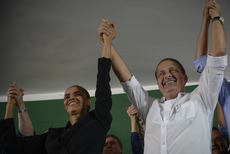 A ex-senadora Marina Silva declarou apoio ao governador de Pernambuco, Eduardo Campos, que preside o partido.
