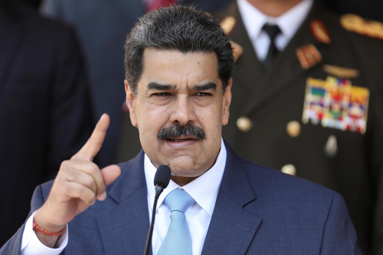 Le président vénézuélien Nicolas Maduro, ici à Caracas, le 12 mars 2020.