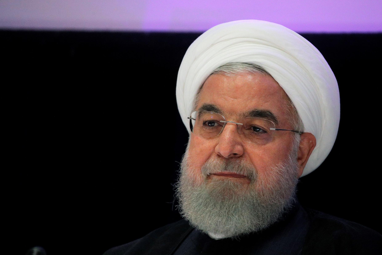 Le président iranien, Hassan Rohani, lors d'une conférence de presse à New York en marge de l'assemblée générale de l'ONU, le 26 septembre 2019.