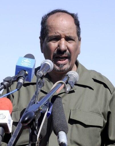 Le secrétaire général du Front Polisario Mohamed Abdelaziz célèbre le 35e anniversaire de la proclamation d'indépendance du Sahara occidental, le 27 février 2011