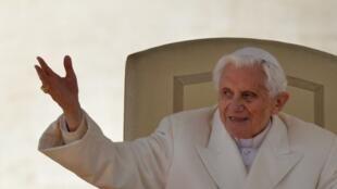 Le pape Benoît XVI lors de sa dernière audience, le 27 février 2013 au Vatican.