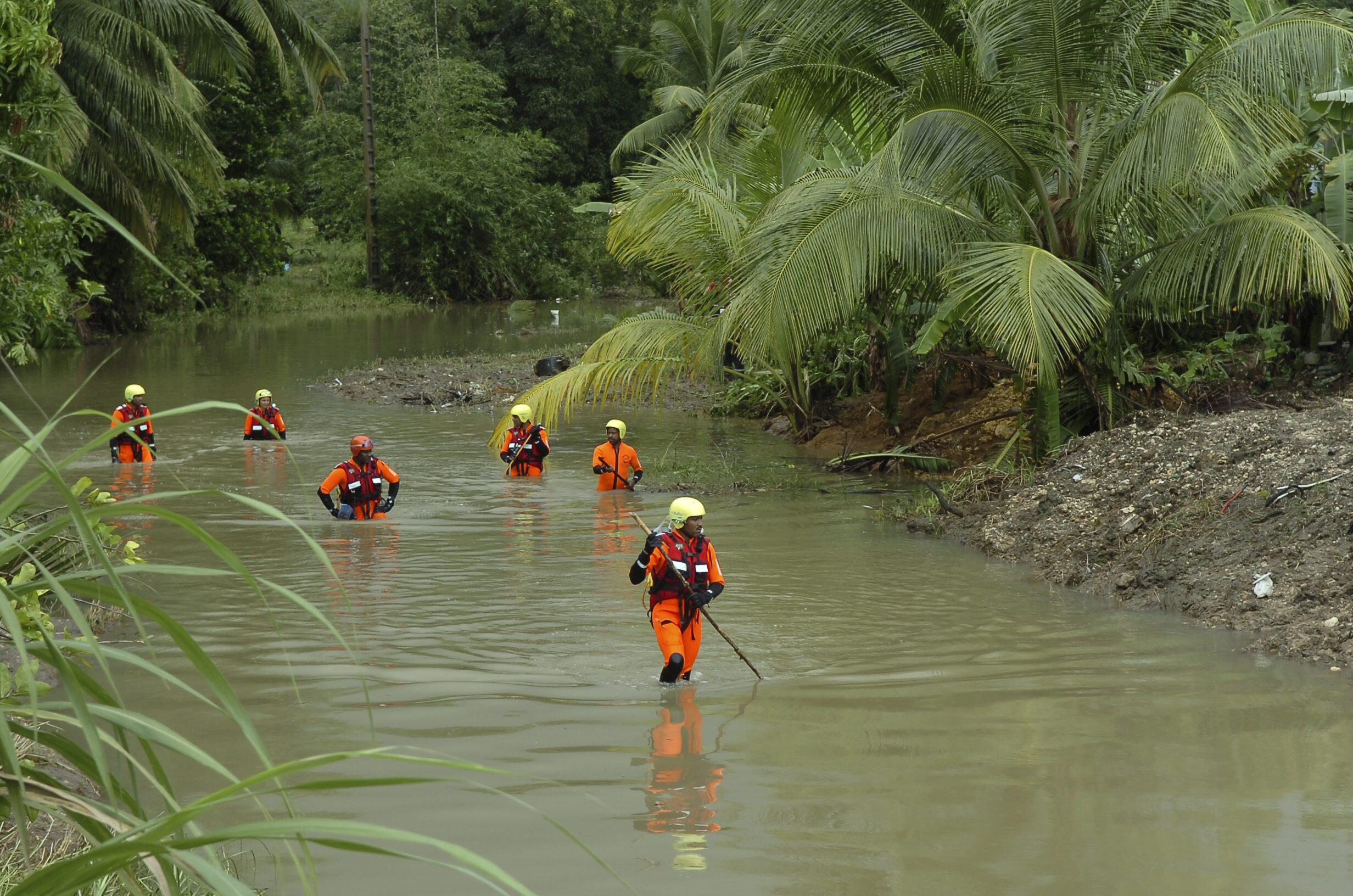 Rescue workers search for flood victims in Guadeloupe