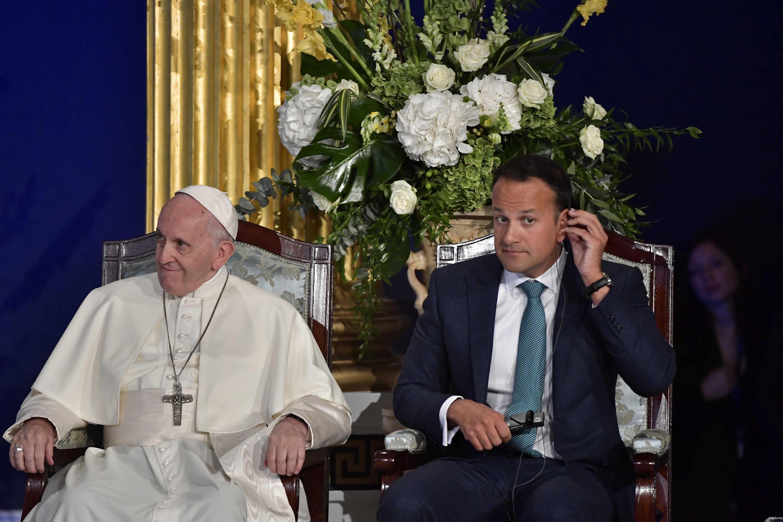 Primer ministro irlandés, Leo Varadkar, en reunión con el Papa