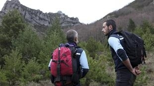 Specialised mountain police at the Pic de Bugarach
