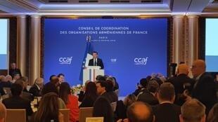 Эмманюэль Макрон принял участие в ежегодном ужине Координационного совета армянских организаций Франции, 5 февраля 2019