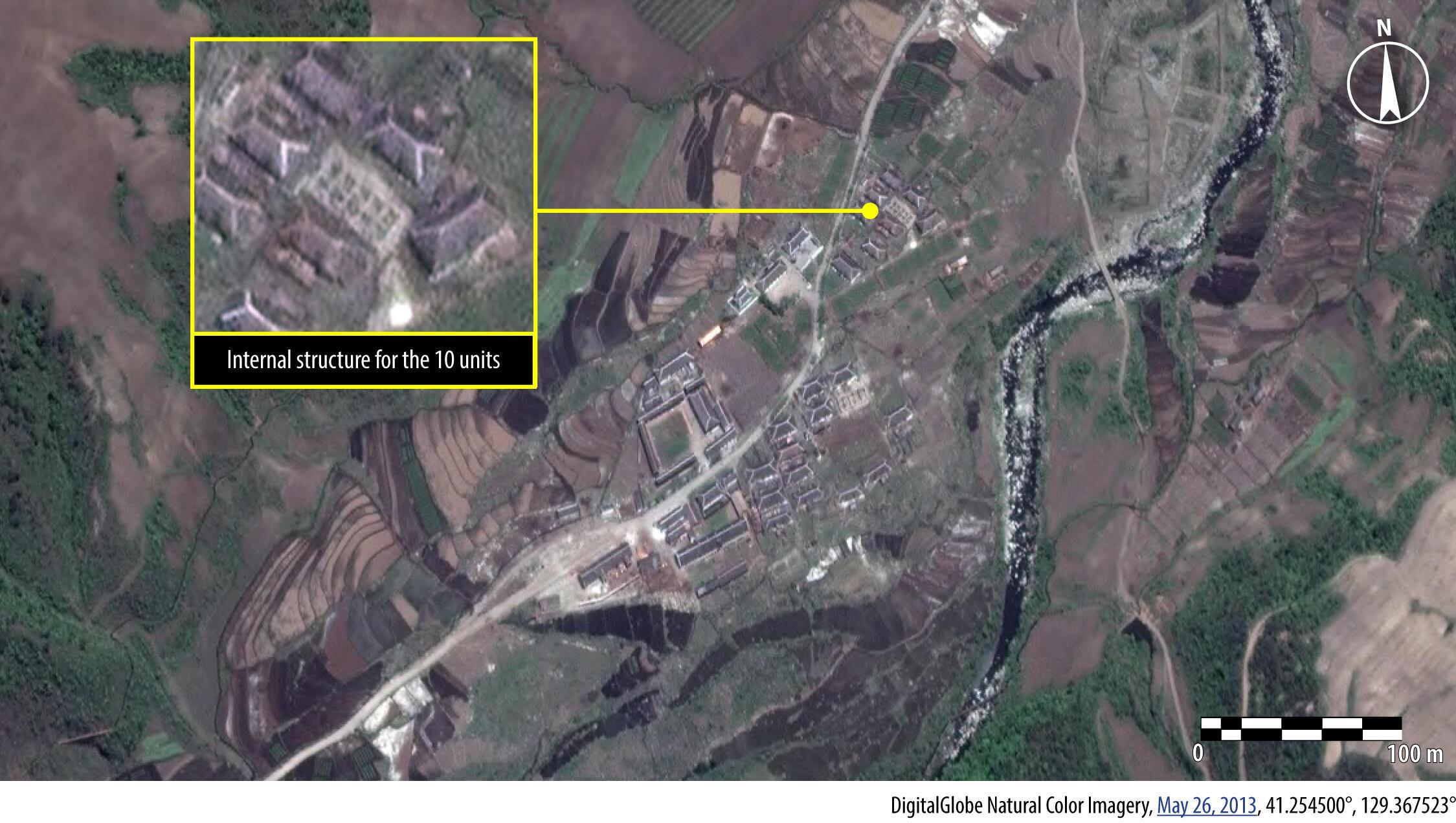 Hình ảnh vệ tinh chụp trại Kwanliso số 16, ngày 26/05/2013.