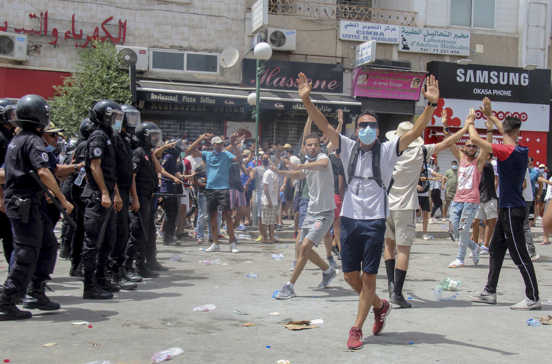 Manifestations à Tunis, Tunisie