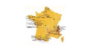 La carte du Tour de France 2018 第105屆環法自行車賽 2018年7月7日至7月29日