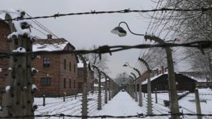 Une vue du camp d'extermination nazi d'Auschwitz (sud de la Pologne).