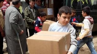 Des réfugiés syriens à la frontière libanaise, 17 mai 2011.