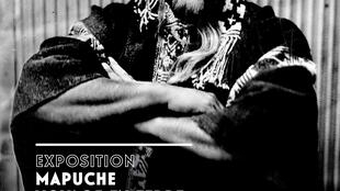 Affiche de l'exposition « Mapuche, voyage en terre Lafkenche », au musée de l'Homme à Paris.