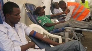 Un centre de don de sang dans le quartier d'Eastleigh, où vivent beaucoup de membres de la communauté somalie.